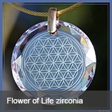 Flower of Life diamond zirconia
